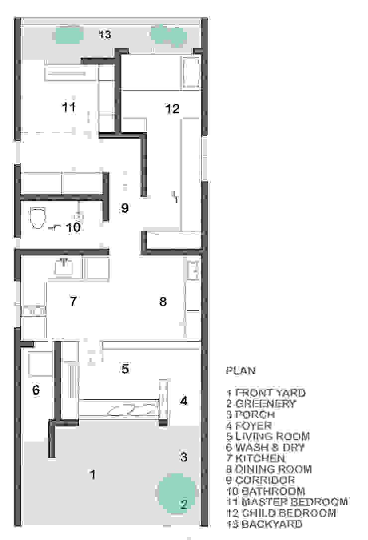 Floor Plan Oleh TIES Design & Build Minimalis