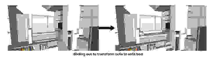 Sofa Bed Transformation Oleh TIES Design & Build Minimalis