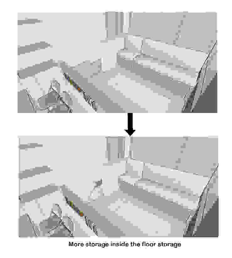 Floor Storage Oleh TIES Design & Build Minimalis