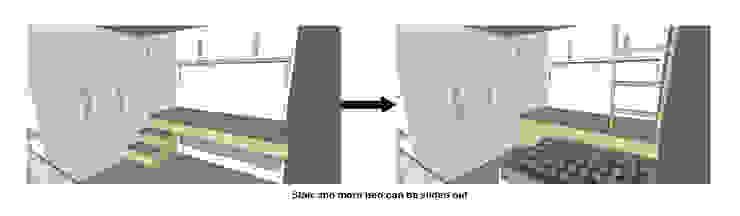 Sliding Bed Transformation Oleh TIES Design & Build Minimalis