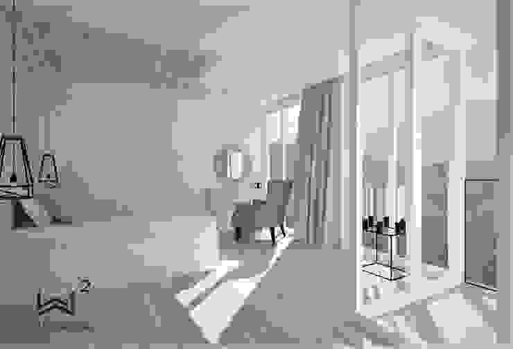 by Wkwadrat Architekt Wnętrz Toruń Scandinavian Wood Wood effect