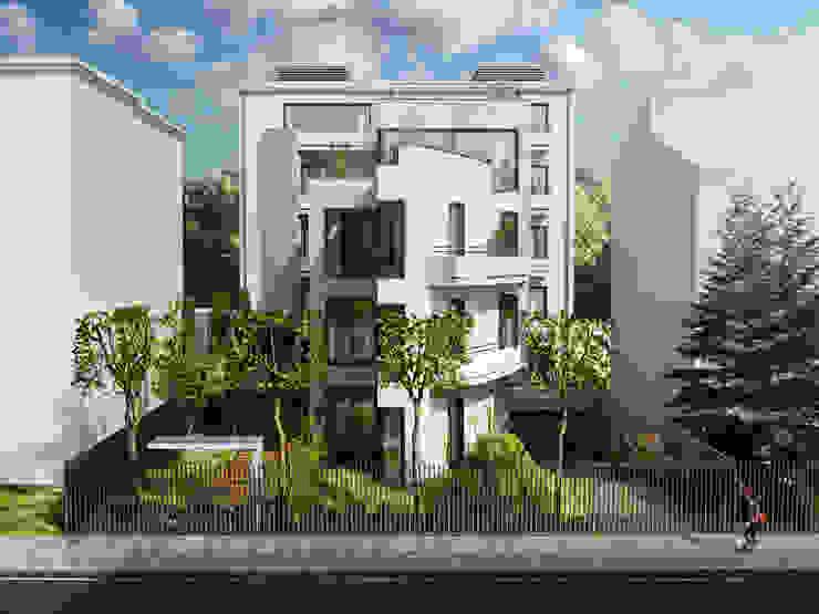 Zbigniew Tomaszczyk Decorum Architekci Sp z o.o. Modern houses White