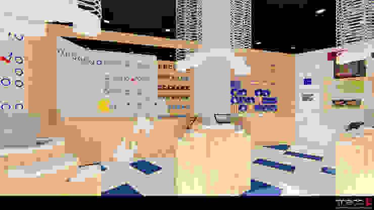Locaux commerciaux & Magasin modernes par Traço M - Arquitectura Moderne Bois Effet bois
