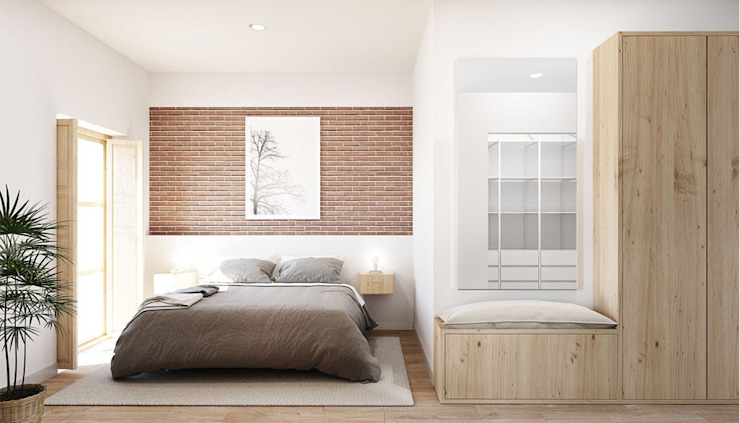 Industrial style bedroom by LaBoqueria Taller d'Arquitectura i Disseny Industrial Industrial