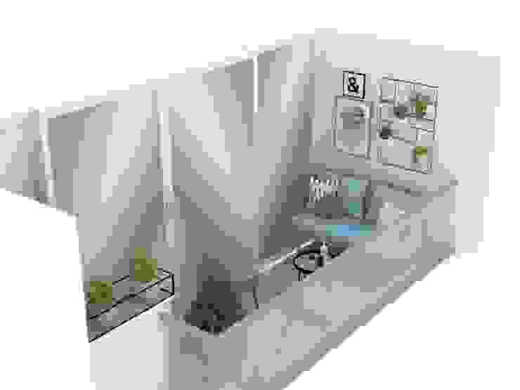 Diseño balcón principal apartamento /edificio Serrat de Decó ambientes a la medida Escandinavo