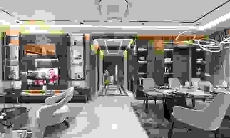 ออกแบบตกแต่งภายในบ้านตัวอย่าง : ทันสมัย  โดย Glam studio, โมเดิร์น