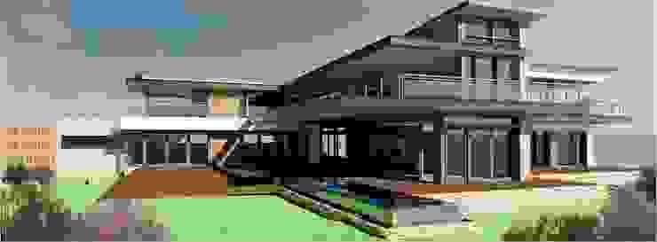 Ultra Modern Bushveld Home by Venuï Architects Modern Stone