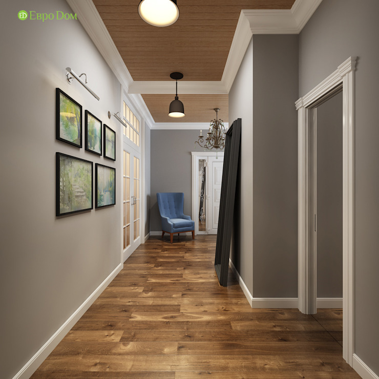 Classic style corridor, hallway and stairs by ЕвроДом Classic
