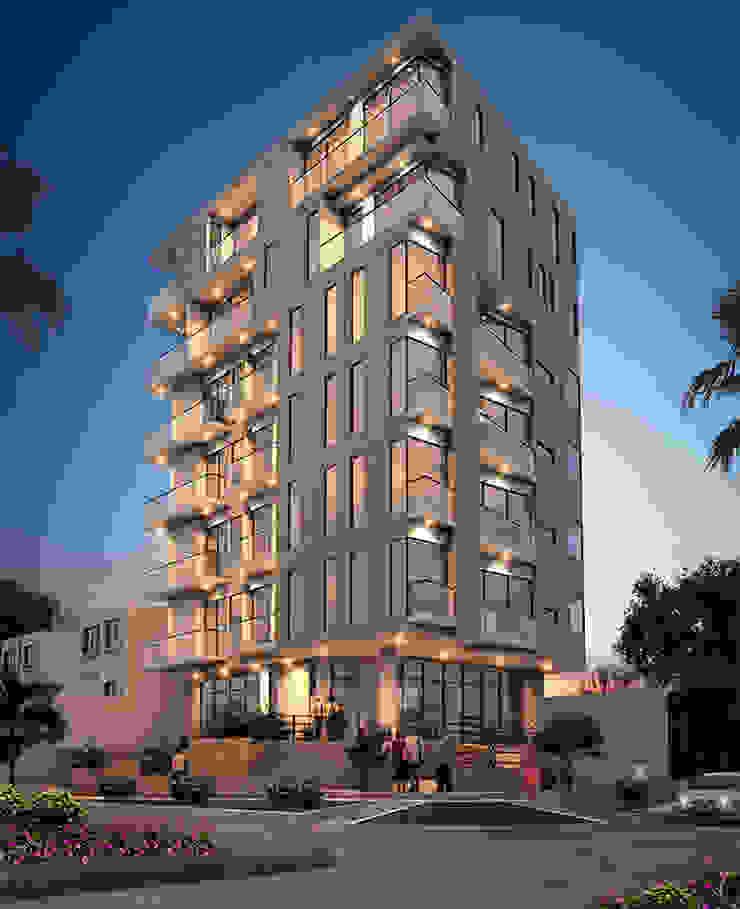 Fachada edificio - Tarde de Studio 1:1 Arquitectura Moderno