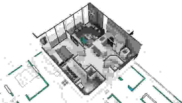 Propuesta Apto 1 de Studio 1:1 Arquitectura Moderno