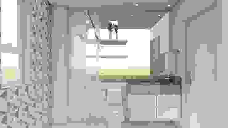 Banheiro Social: Banheiros  por Fark Arquitetura e Design,