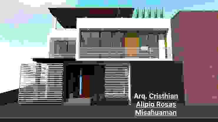 CASA TERRAZA de Crearq-Arquitecto C.ROSAS Minimalista Ladrillos