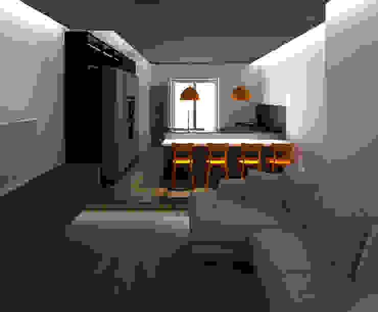 ZONA LIVING: Cucina attrezzata in stile  di G&S INTERIOR DESIGN, Moderno