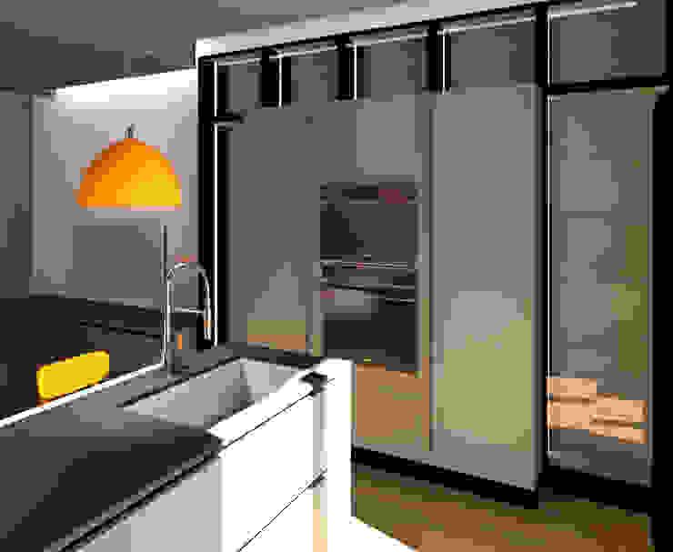 COLONNE: Cucina attrezzata in stile  di G&S INTERIOR DESIGN, Moderno