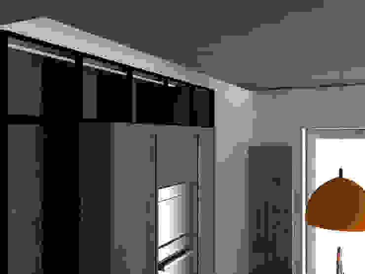 COLONNE A VETRO: Cucina attrezzata in stile  di G&S INTERIOR DESIGN, Moderno