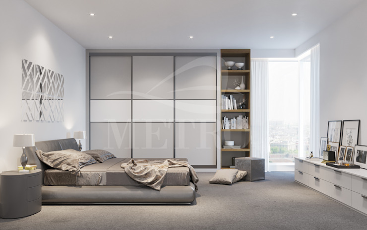 Made to Measure Fitted Sliding Wardrobes and Doors London de Metro Wardrobes London Moderno