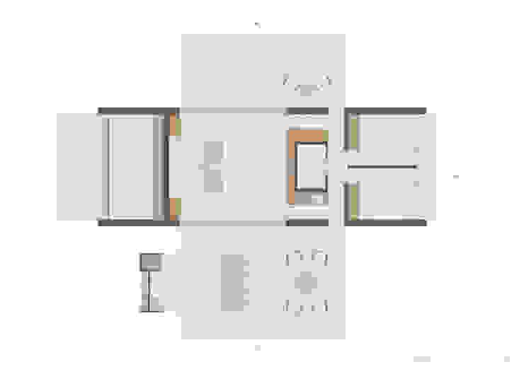 Xlam wooden house plan de ALESSIO LO BELLO ARCHITETTO a Palermo Moderno