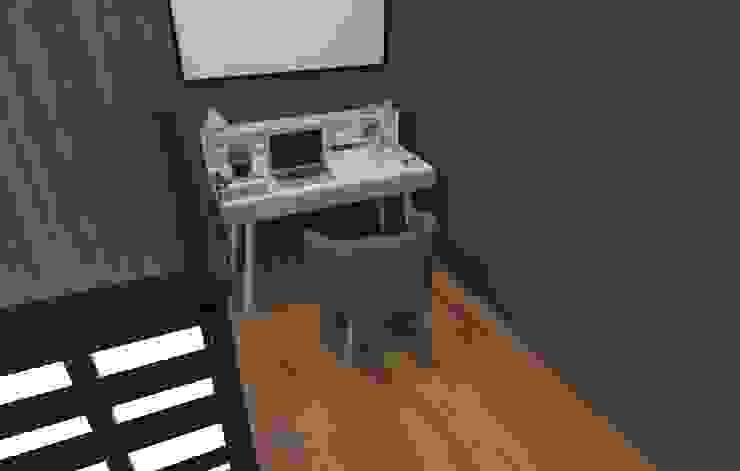 Tempat Kerja SARAÈ Interior Design Ruang Studi/Kantor Minimalis Kayu Lapis Grey