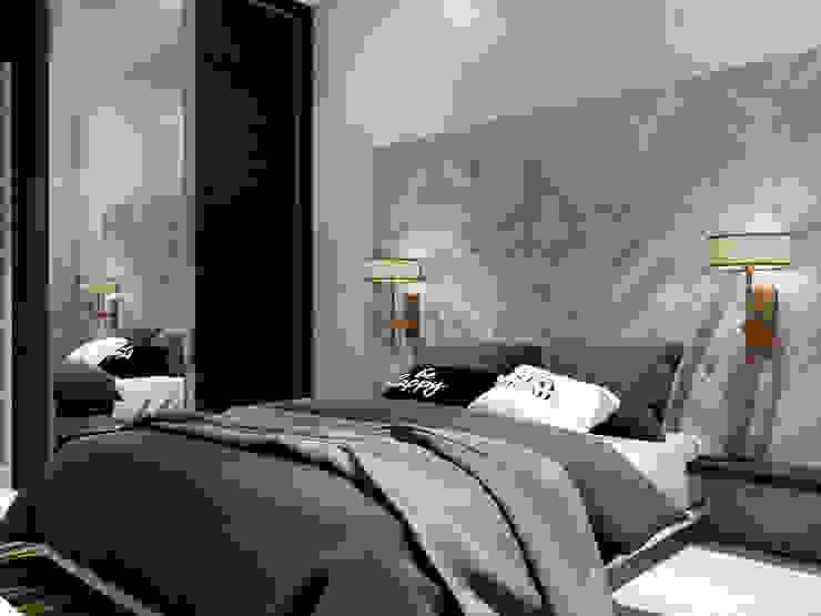 Доски над кроватью в спальне от Студия Ольги Таракановой Эклектичный Дерево Эффект древесины
