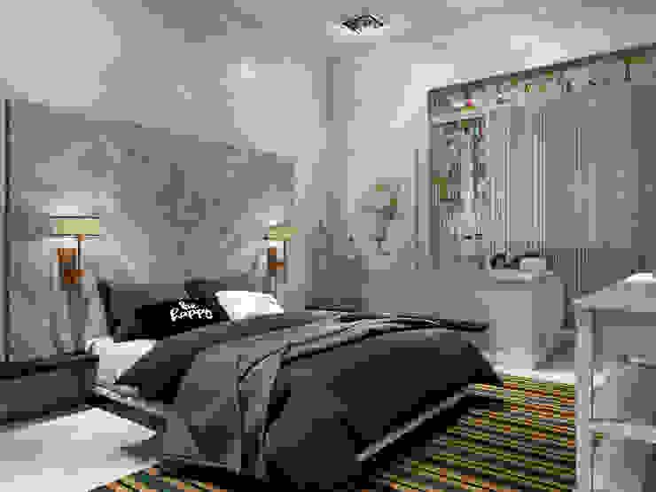 Двуспальная кровать с изголовьем из досок от Студия Ольги Таракановой Эклектичный Дерево Эффект древесины