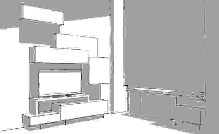 Ruang Keluarga Modern Oleh Idea Stile Modern Parket Multicolored
