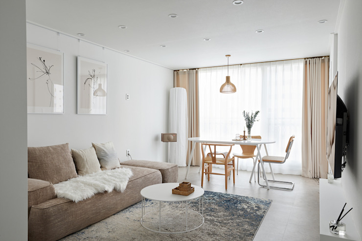 Scandinavian style living room by BK Design Studio Scandinavian