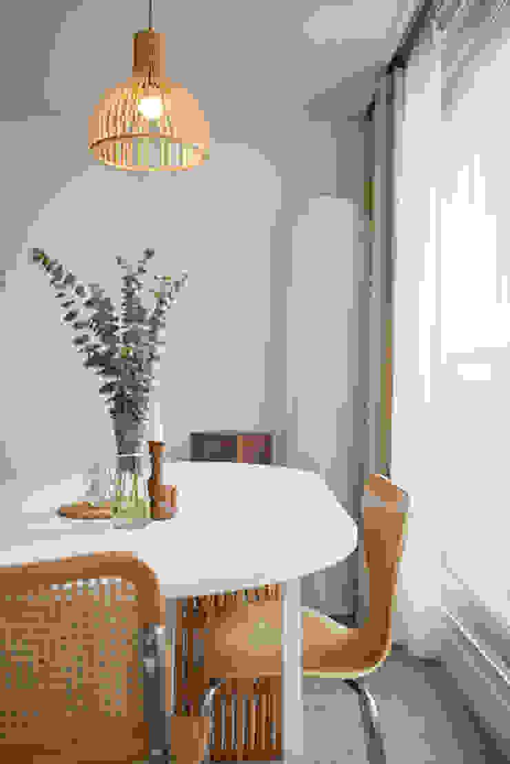 북유럽 풍 신혼집 인테리어 공간, 22평 작은 평수의 아파트 인테리어 by BK Design Studio 북유럽