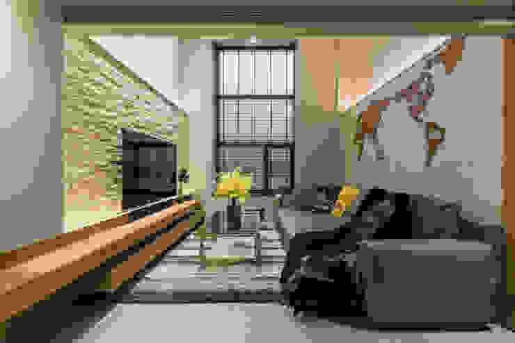 竹村空間 Zhucun Design Dinding & Lantai Modern