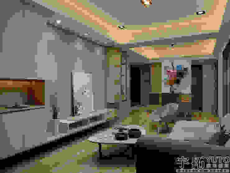 新成屋 现代客厅設計點子、靈感 & 圖片 根據 宇拓室內設計 現代風
