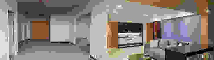 舊屋翻新 现代客厅設計點子、靈感 & 圖片 根據 宇拓室內設計 現代風