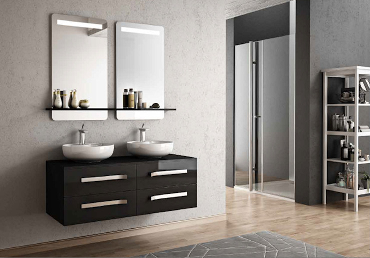 MAESTA BATHROOM FURNITURE – vero 120 cm: modern tarz , Modern