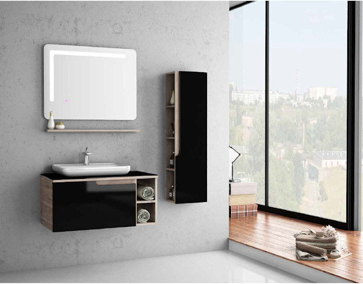 MAESTA BATHROOM FURNITURE – paulo 90 cm: modern tarz , Modern