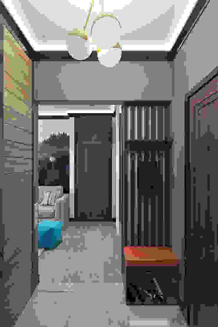 Pasillos, vestíbulos y escaleras de estilo minimalista de Zibellino.Design Minimalista