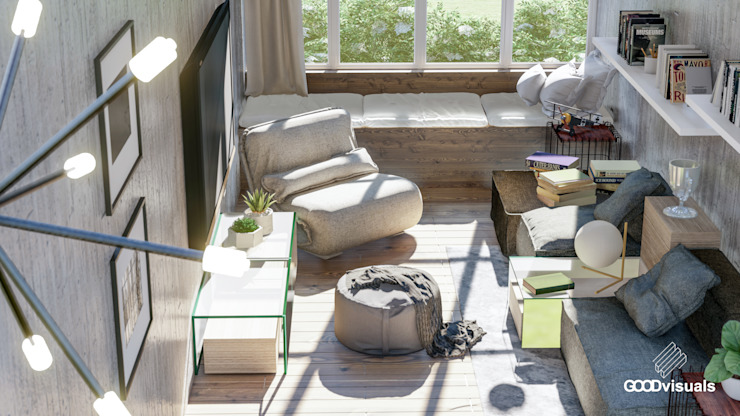 Portafolio GOOD visuals Livings de estilo moderno