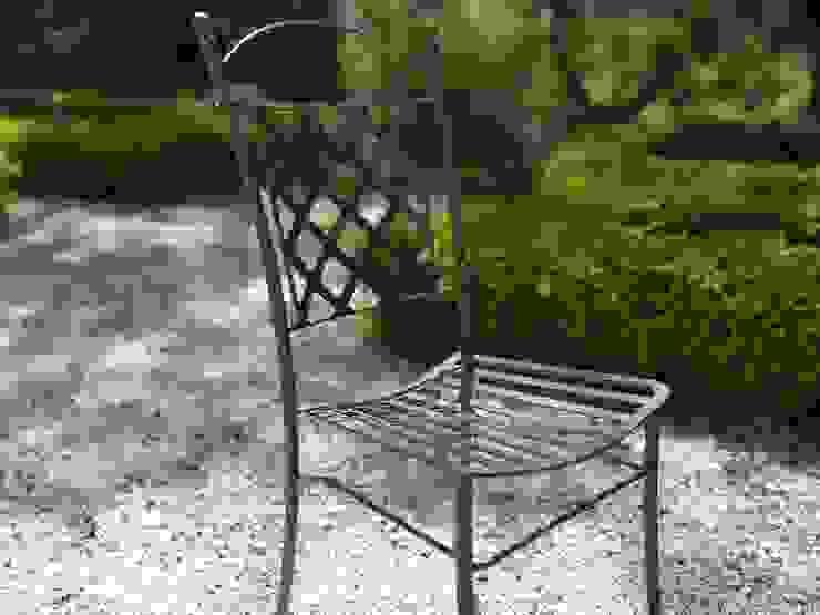 Sedia collezione Versailles in ferro battuto color antracite di Villa Dorica Classico Ferro / Acciaio