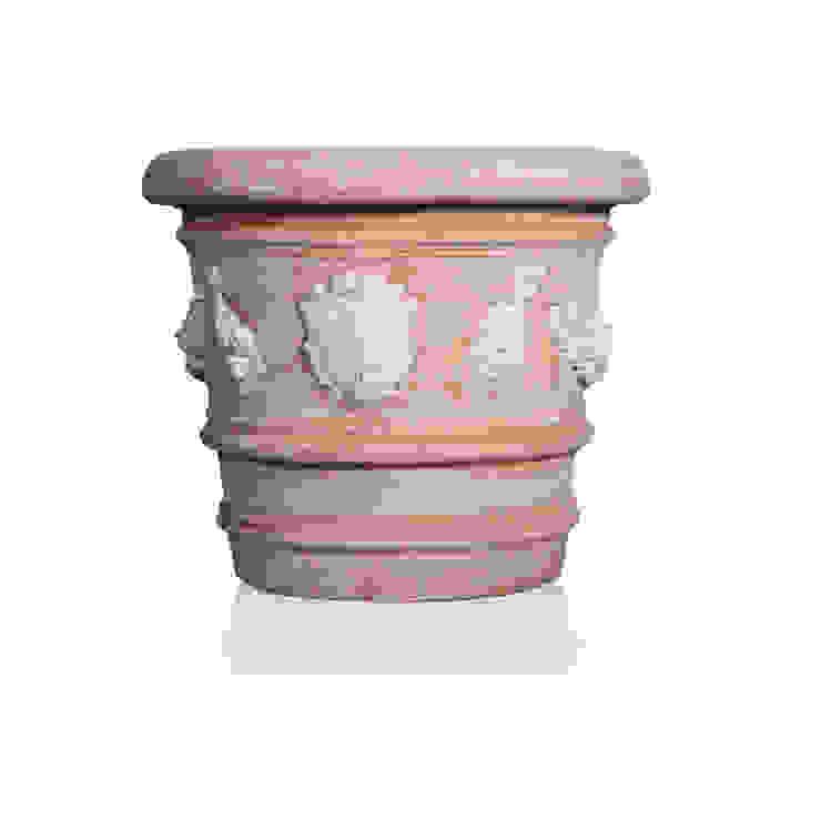 Vaso Firenze in terracotta con stemma personalizzato di Villa Dorica Classico