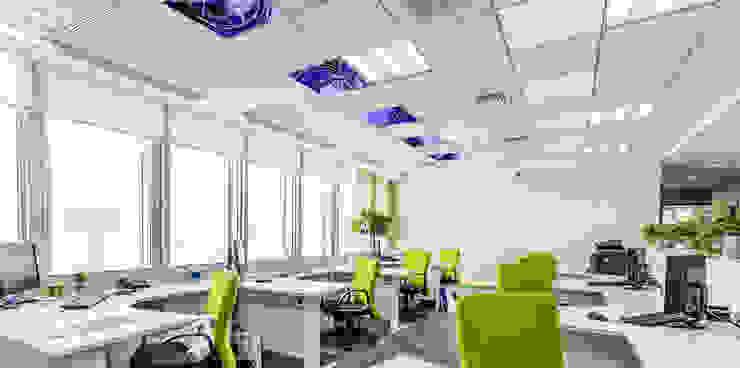 systeemplafond verwarming: modern  door Heat Art - infrarood verwarming, Modern Glas