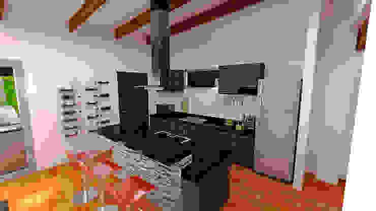 Casa Ocampo Cocinas modernas de Dima Arquitectos s.a.s Moderno