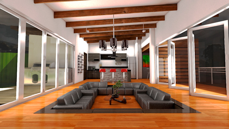 Casa Ocampo Salas modernas de Dima Arquitectos s.a.s Moderno