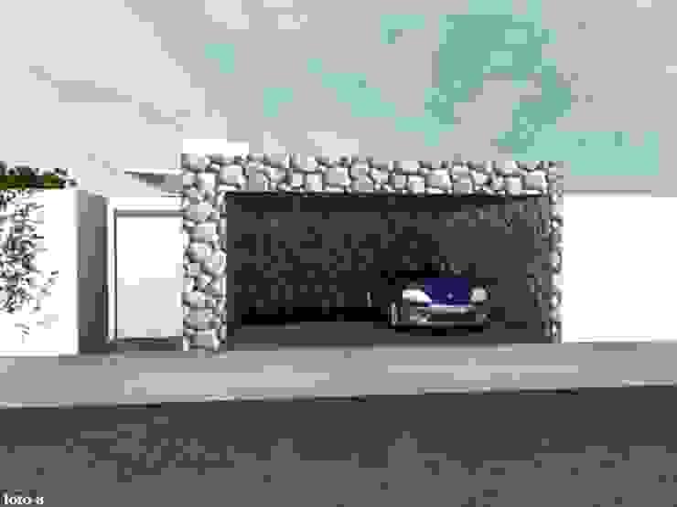 Summa - Soluções em Arquitetura Porte da garage Pietra Grigio