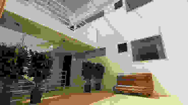 Modern corridor, hallway & stairs by Dima Arquitectos s.a.s Modern