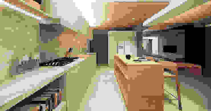 Saulo Magno Arquiteto Kitchen units Wood Grey
