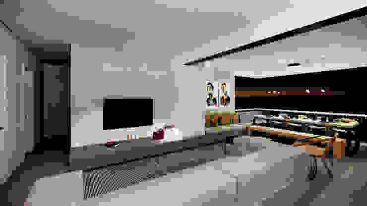 Apartamento 254 Salas de estar minimalistas por Saulo Magno Arquiteto Minimalista Concreto