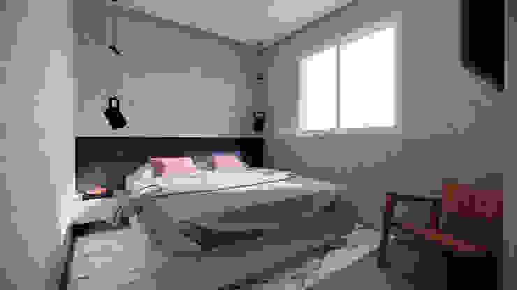 Saulo Magno Arquiteto Minimalist bedroom Concrete Grey