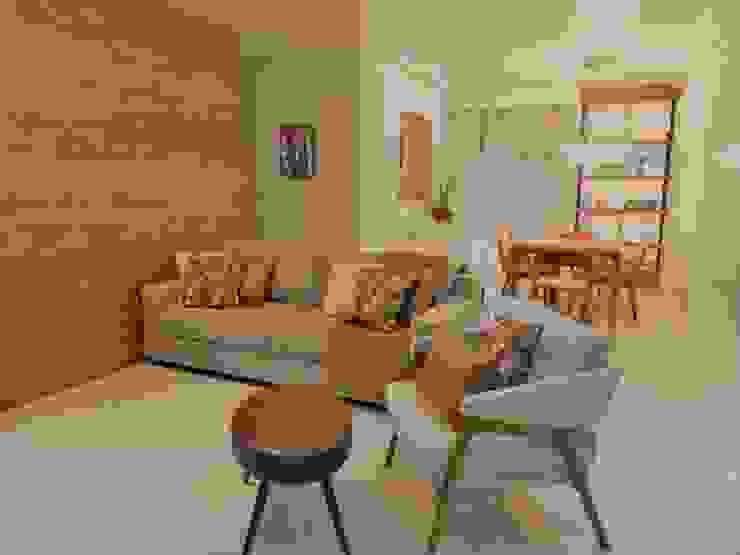 Conforto e elegância Izabella Biancardine Interiores Salas de estar modernas