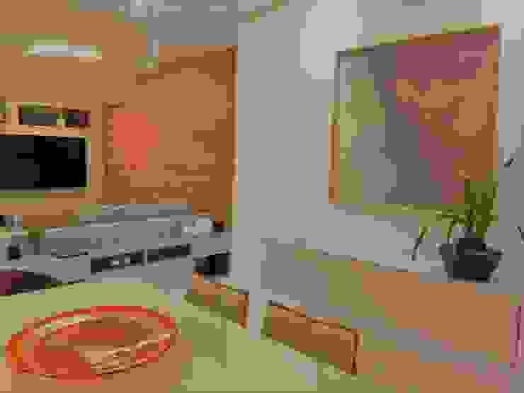 Modernidade integrada Izabella Biancardine Interiores Salas de jantar modernas