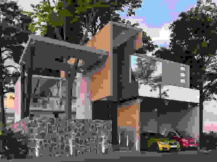 Residencia La Piedra Espacios comerciales de estilo industrial de AR216 Industrial Concreto