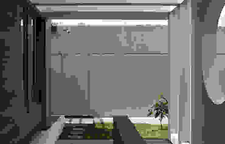 Q-House Bandung Balkon, Beranda & Teras Tropis Oleh CV Berkat Estetika Tropis Beton