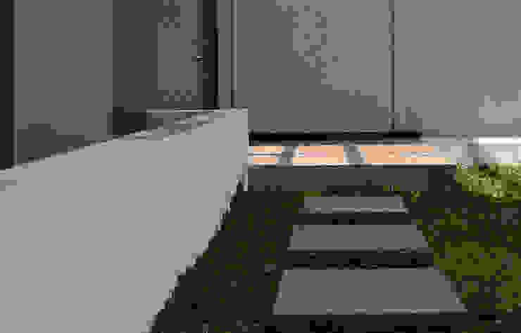 Q-House Bandung Taman Tropis Oleh CV Berkat Estetika Tropis Beton Bertulang