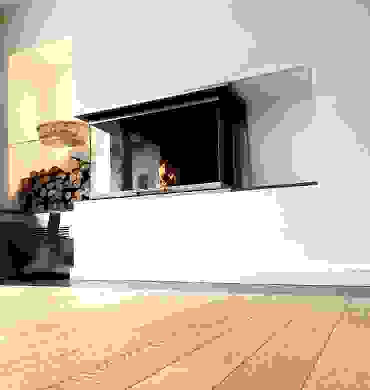 3-seitig geöffneter Kamin Moderne Wohnzimmer von Christoph Lüpken Ofenbau GmbH - Kamine aus Duesseldorf Modern